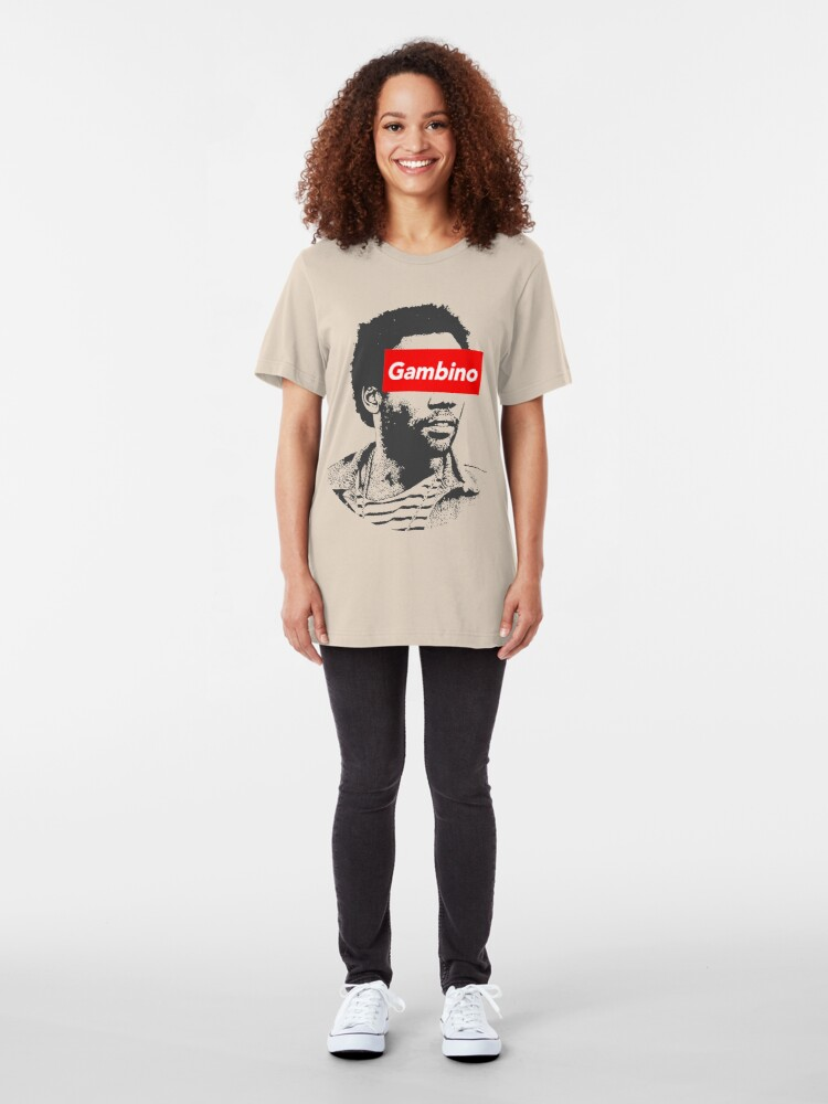 Alternate view of Childish Gambino art Slim Fit T-Shirt