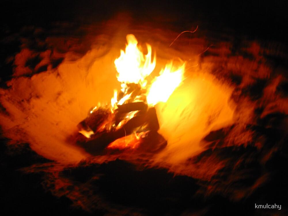 bonfire on the beach by kmulcahy