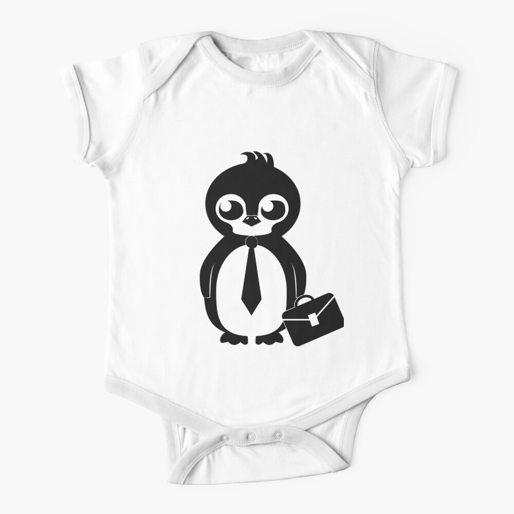 Business Penguin Baby One-Piece