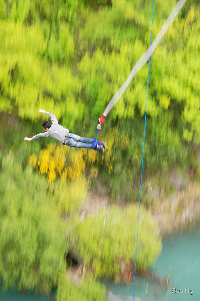 Bungy jump off Kawarau bridge, Queenstown New Zealand by Ben Ng