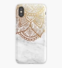 Mandala - Gold & Marble iPhone Case/Skin