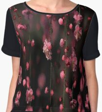 Trailing Japanese Blossoms Chiffon Top