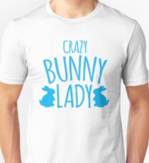 CRAZY Bunny lady Slim Fit T-Shirt