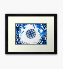 Sphere in blue Framed Print