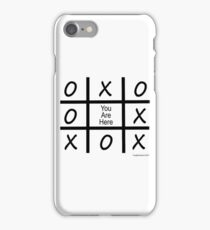 Tic Tac Toe - You Are Here iPhone Case/Skin