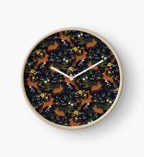 Rabbit Garden Clock