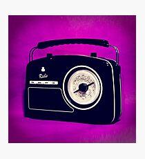 Vintage Style Analogue Radio Photographic Print