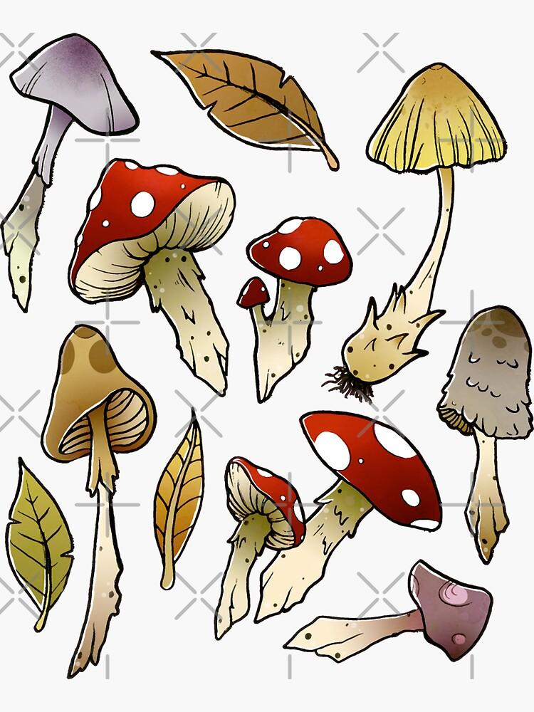Mushroom Sticker-pack by Elisecv