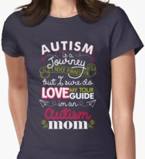 Autism Is A Journey I Never Planned For But I Love My Guide Women's Fitted T-Shirt