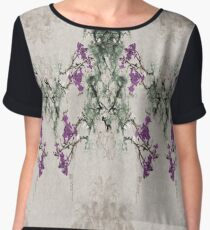 Abstract Asian Plum Blossoms Chiffon Top