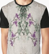 Abstract Asian Plum Blossoms Graphic T-Shirt
