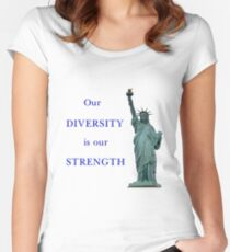 Our diversity is our strength Women's Fitted Scoop T-Shirt