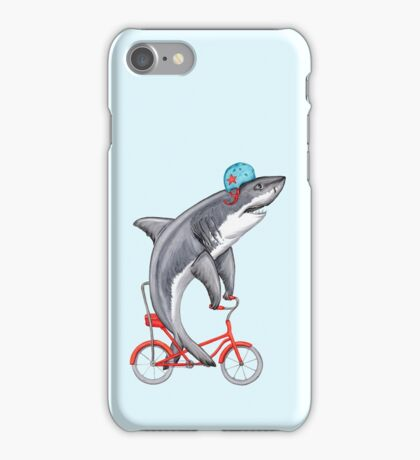 Cycling Shark  iPhone Case/Skin