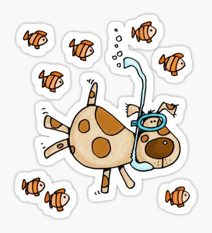 Snorkel Doggy Sticker