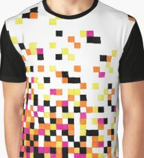 Dissipating Pixels in Gel Pen Graphic T-Shirt