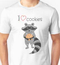 I love cookies! Funny raccoon Unisex T-Shirt