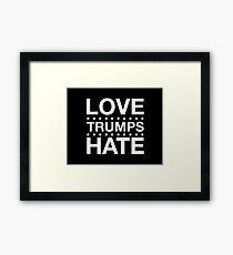 Love Trumps Hate - LoveTrumpsHate - White Framed Print