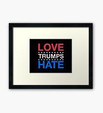Love Trumps Hate - LoveTrumpsHate - #LoveTrumpsHate - Red White Blue Framed Print
