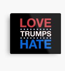 Love Trumps Hate - LoveTrumpsHate - #LoveTrumpsHate - Red White Blue Metal Print
