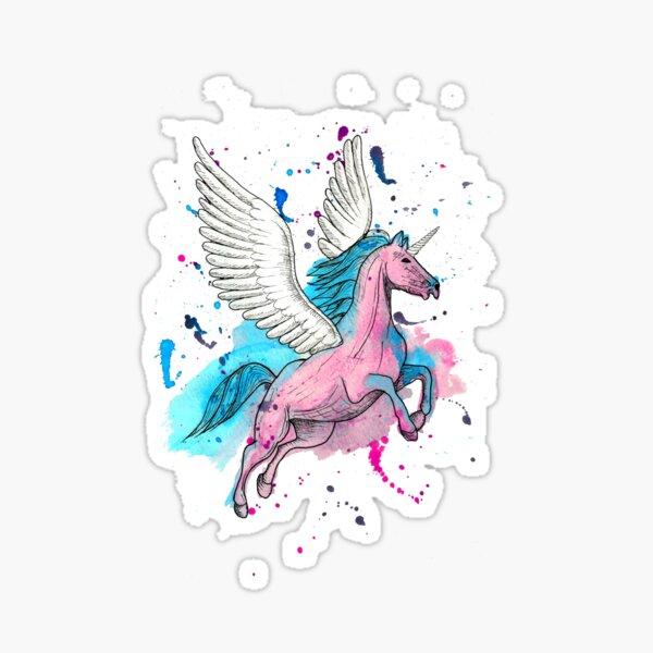 Watercolour Unicorn 1 Sticker
