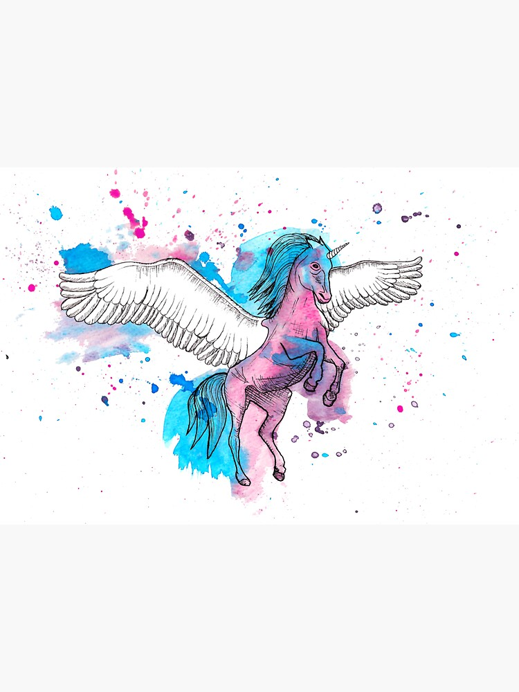 Watercolour Unicorn 2 by LPDesignsAndArt