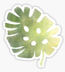 Banana Leaf Watercolor Sticker