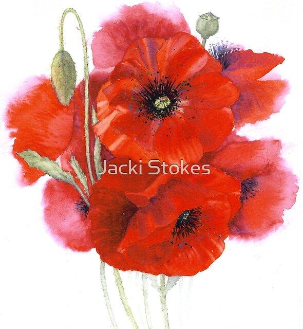 Poppy posy by Jacki Stokes