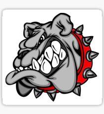 Scary angry bulldog Sticker