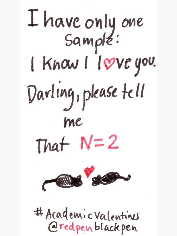 Academic Valentines: N=2 by redpenblackpen