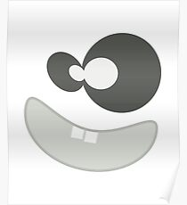 Funny Monster Face Smiley Poster