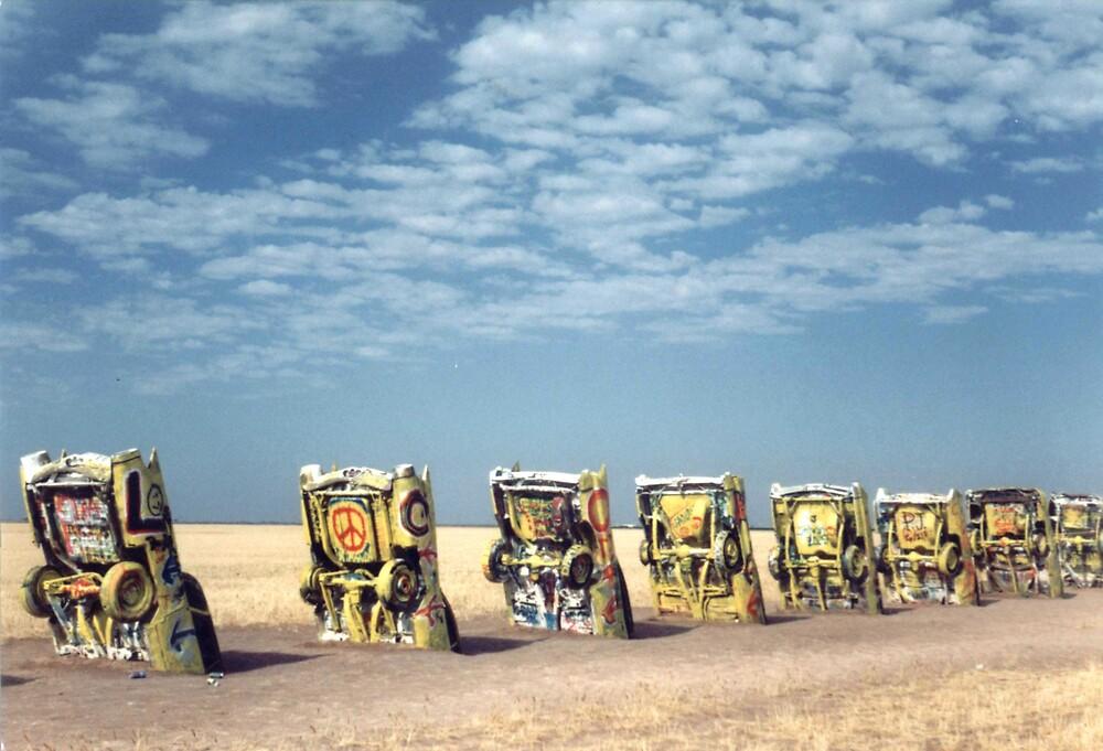 Cadillac Ranch, Texas by mkpshay