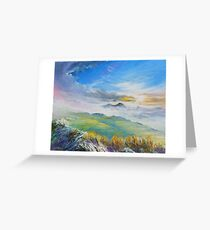 Sunrise in Kerry mountains  Greeting Card