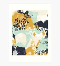 Tinsley - Modern abstract painting in bold, fresh colors Art Print