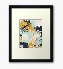 Tinsley - Modern abstract painting in bold, fresh colors Framed Print