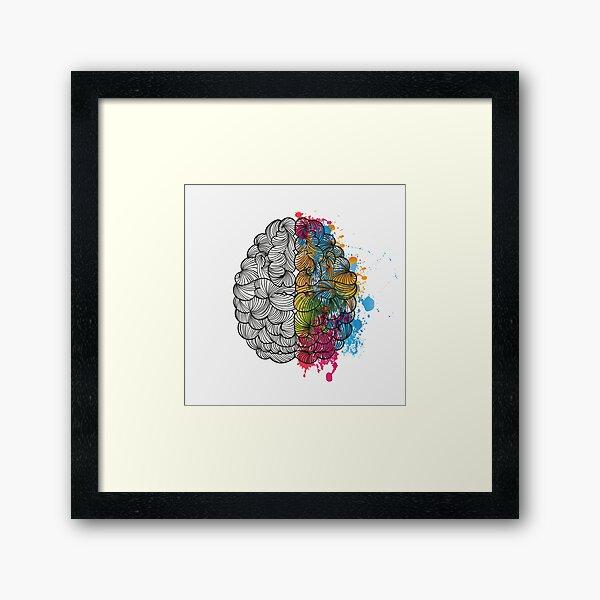 Mi cerebro Lámina enmarcada