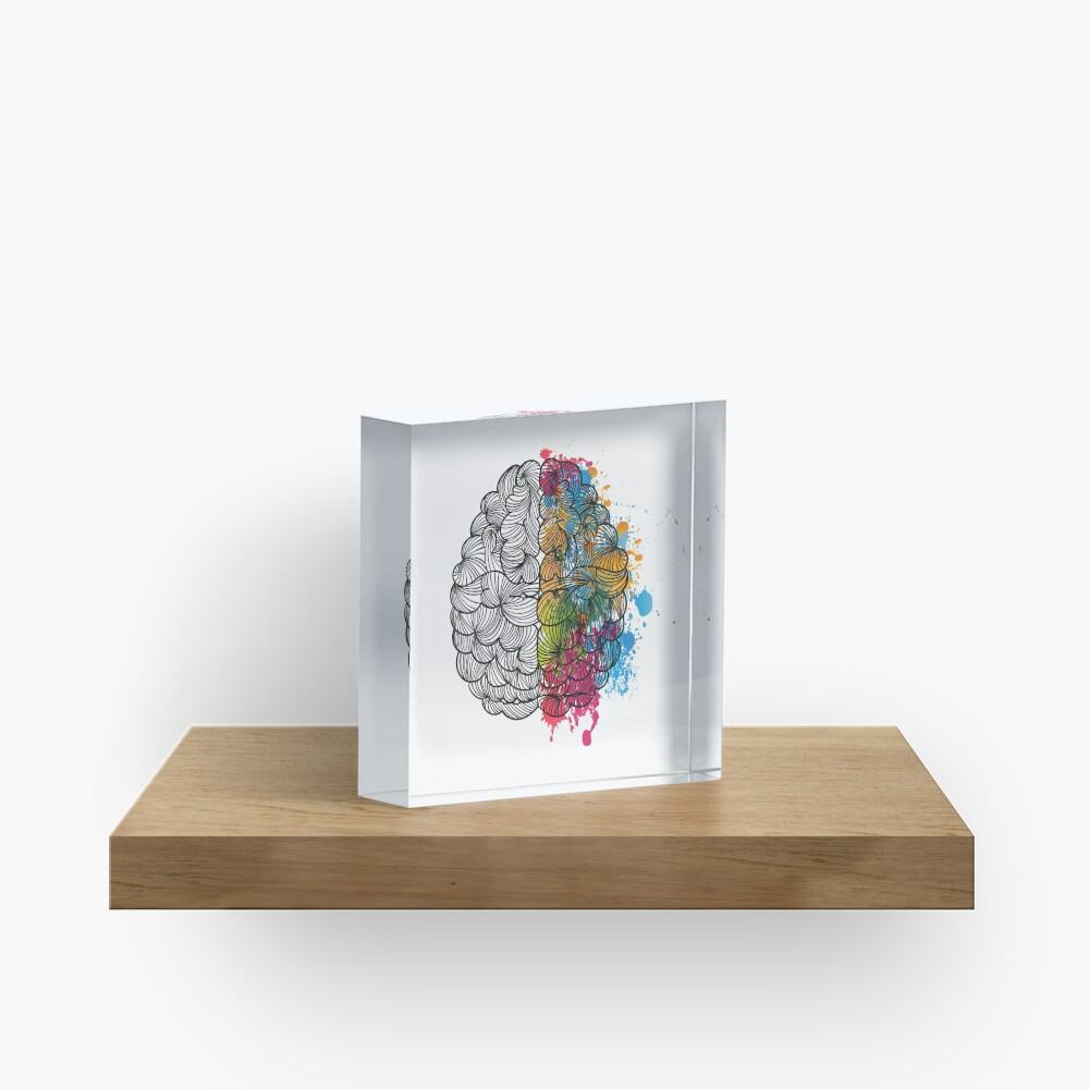 Mi cerebro Bloque acrílico