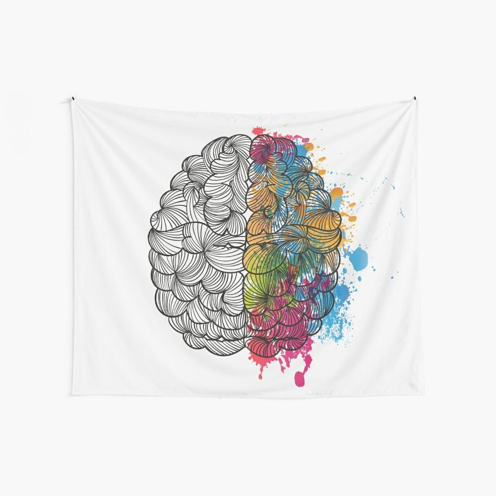 Mi cerebro Tela decorativa