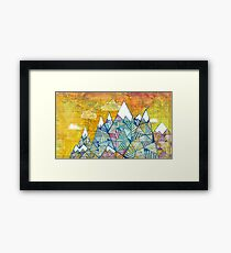 Maps and Mountains Framed Print