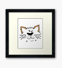 Funny Cute Monster Cat Framed Print