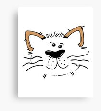 Funny Cute Monster Cat Canvas Print