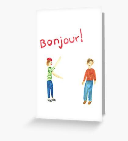 Bonjour! Greeting Card