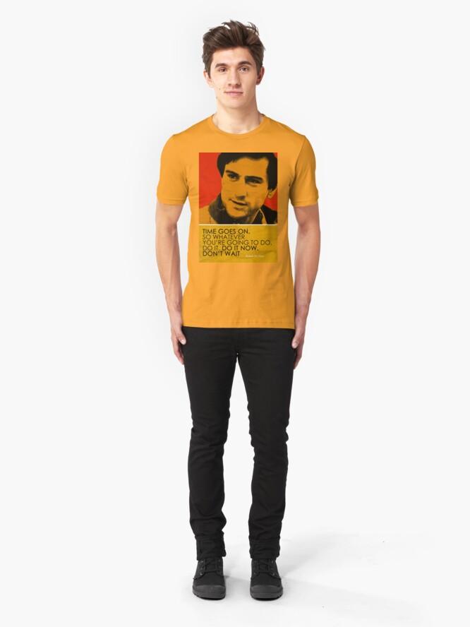 Alternate view of Robert De Niro Inspirational Quote Slim Fit T-Shirt