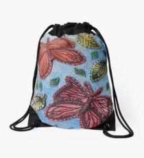 Butterfly Garden Drawstring Bag