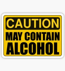 Caution May Contain Alcohol Sticker