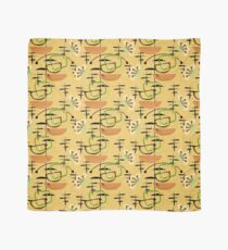 Mid-Century Modern, Gold & Black, Houseplants Scarf