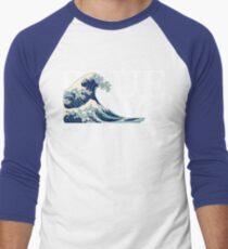 The Blue Wave Men's Baseball ¾ T-Shirt