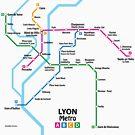 Lyon Metro Network by UrbanRail