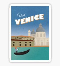 Venice Vintage Travel Poster Sticker