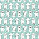 Flauschiger weißer Welpe von Andrea Lauren von Andrea Lauren