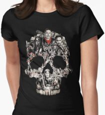 TWD Skull Cast Womens Fitted T-Shirt